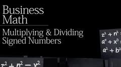 Basics: Multiplying and Dividing Signed Numbers thumbnail