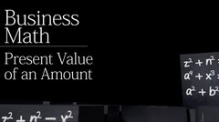 Time value of money: Present Value of an Amount thumbnail