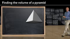 Geometry: Volume of a Pyramid thumbnail