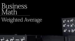 Business statistics: Weighted Averages thumbnail