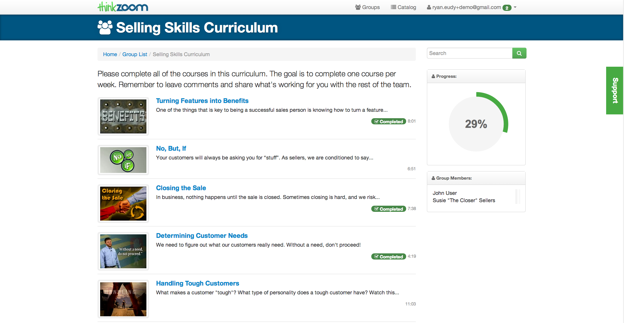 Selling Skills Curriculum Top